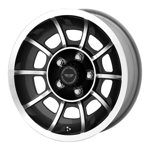 AMERICAN RACING VECTOR BLACK MACH 5x4.5 W/ 0 ET (VN475765) WHEELS RIMS