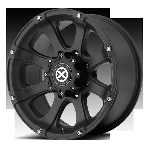 15 inch 15x7 Teflon Black Ledge Wheels 5 Lug Ford Ranger Jeep Wrangler